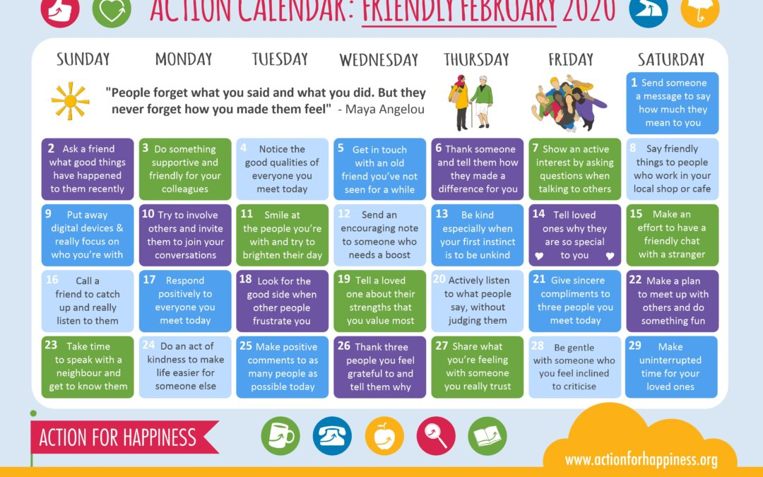 Action for Happiness: Friendly February