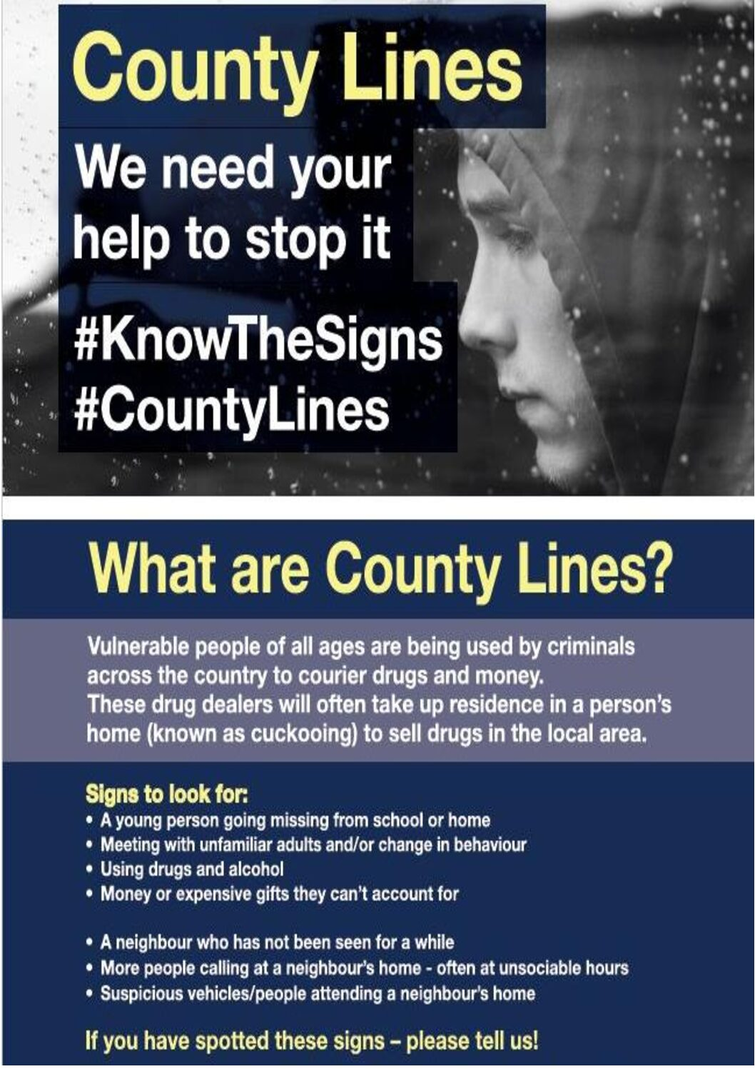 County Lines #KnowTheSigns #CountyLines